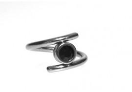 Piercing anneau spirale noir