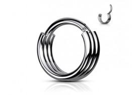 Piercing anneau segment clippé double acier
