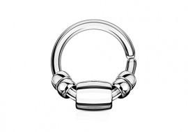 Piercing cartilage ou helix perle ovale acier