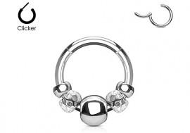Piercing anneau breloque acier