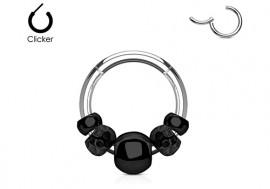 Piercing anneau breloque noire