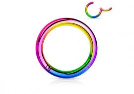 Piercing anneau à segment clippé essence