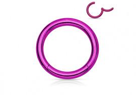 Piercing anneau à segment clippé violet