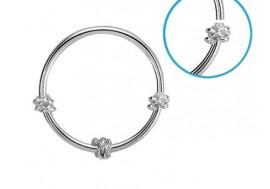 Piercing nez anneau argent massif 925 noeud