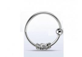 Piercing nez anneau argent massif 925 celte