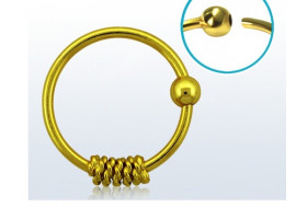 Piercing nez anneau argent massif 925 vermeil cordage