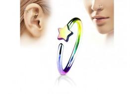 Piercing nez anneau étoile essence