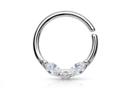 Piercing anneau aile acier