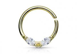 Piercing anneau aile plaqué or