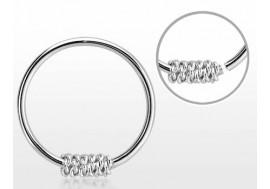 Piercing nez anneau argent massif 925 GRAND NOEUD