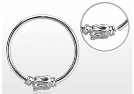 Piercing nez anneau argent massif 925 NOEUD SIMPLE