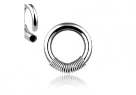 Piercing anneau ressort