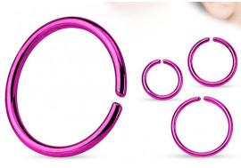 Piercing anneau nez violet