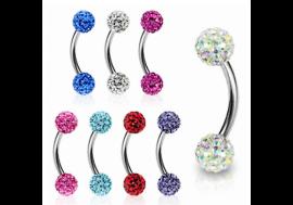 Piercing arcade swarovski muliti-cristaux