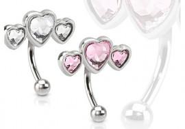 Piercing arcade Trio de coeur