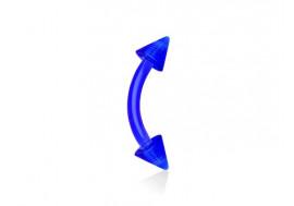 Piercing banane acrylique spike bleu
