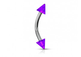 Piercing banane spike acrylique violette