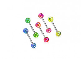 Piercing barbell acrylique brillant