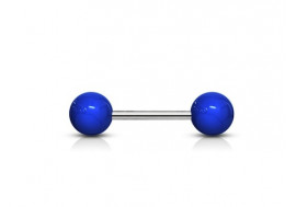 Piercing Barbell acrylique unies bleu