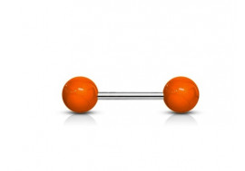 Piercing Barbell acrylique unies orange