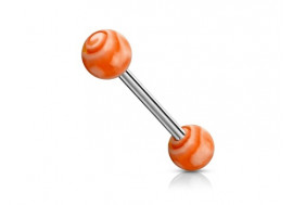 Piercing barbell tourbillon orange