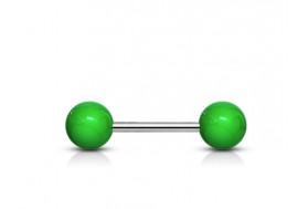 Piercing Barbell acrylique unies vert