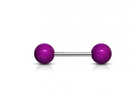 Piercing Barbell acrylique unies violet