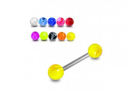 DESTOCKAGE PIERCING LANGUE jaune