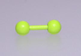 Piercing cartilage fluo vert