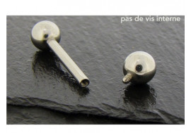 Piercing basic barbell 14mm pas de vis interne