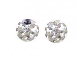 Accessoire piercing bille cristal autriche blanc 1,2mm
