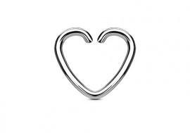 Piercing anneau coeur