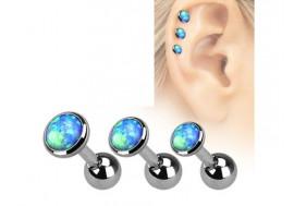 Piercing cartilage et helix Opale bleue
