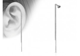 Piercing cartilage double chaine pendante