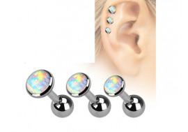 Piercing cartilage et helix Opale blanche