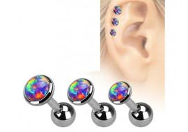 Piercing cartilage et helix Opale violette