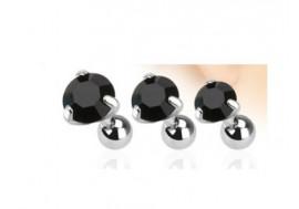 Piercing cartilage pierre griffée noire