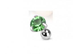 Piercing cartilage pierre griffée vert