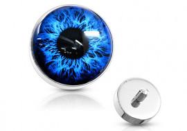 Piercing dermal oeil bleu
