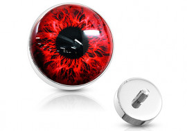 Piercing dermal oeil rouge