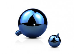 Piercing dermal bille bleu