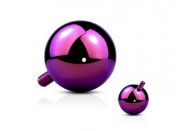 Piercing dermal bille violette