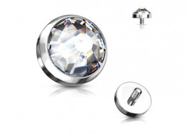 Piercing Microdermal cristal blanc titane