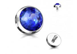 Piercing Microdermal cristal bleu titane
