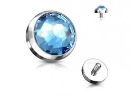 Piercing Microdermal cristal bleu turquoise titane