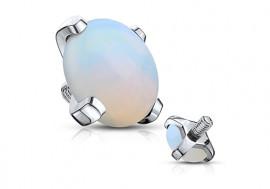 Piercing dermal pierre semie précieuse opale