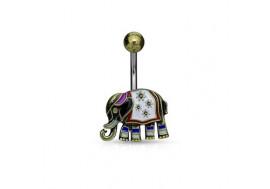 Piercing éléphant vintage antique