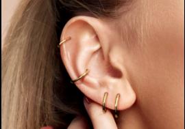 Piercing Hélix anneau plaqué or