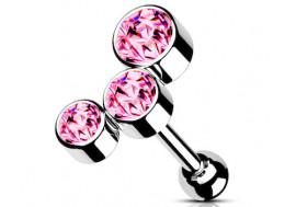 piercing hélix cluster rose
