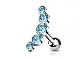 Piercing Helix cascade bleue